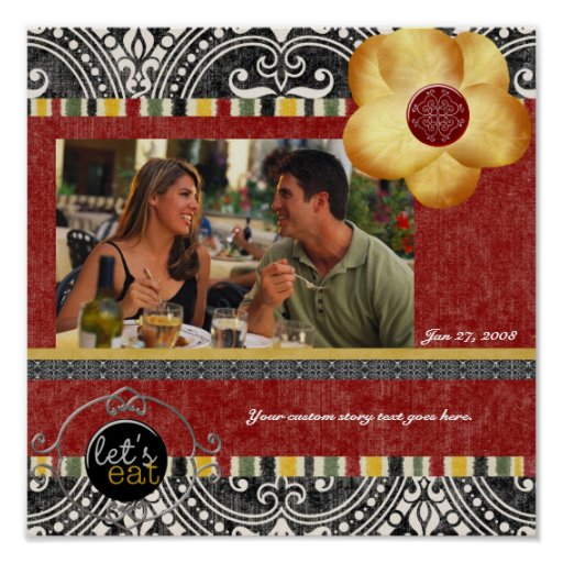 Dinner Party Scrapbook Page Posters