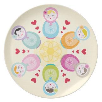 DINNER PLATE :: babushka doll mandala