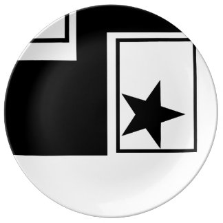 DINNER PLATE - BLACK & WHITE COLLECITION
