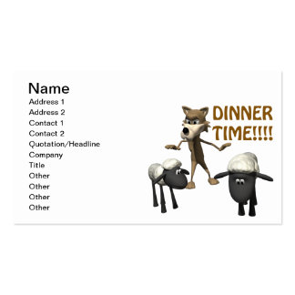 Dinner Time Business Card