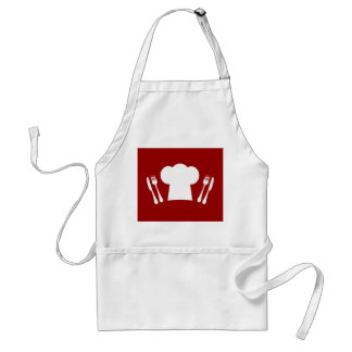 Dinner Time Master Chef Cute Hat and Cutlery Standard Apron