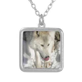 Dinner Time Silver Plated Necklace