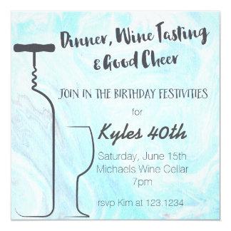 Dinner, Wine Tasting & Good Cheer 13 Cm X 13 Cm Square Invitation Card