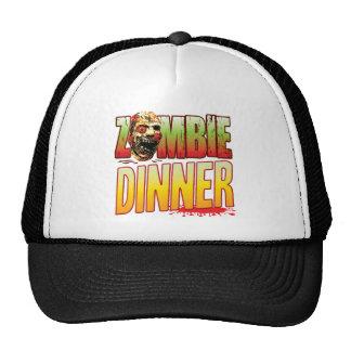 Dinner Zombie Head Trucker Hats