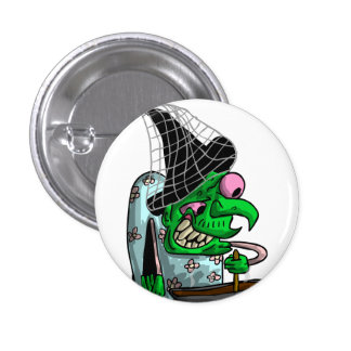 Dinnerlady Witch Button