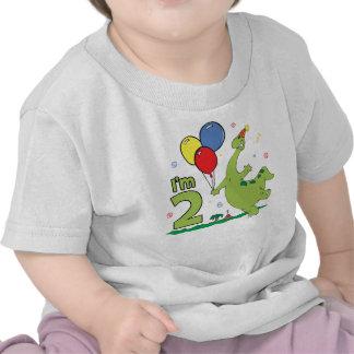 Dino 2nd Birthday Tshirts