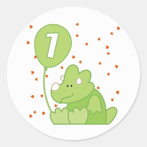 Dino Baby 1st Birthday Sticker