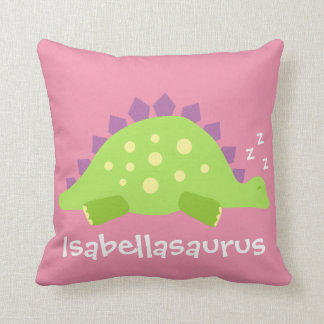 Dino Baby Girl Stegosaurus Cushion