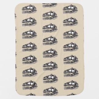 DINO - Beige Baby Blanket