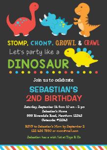 dinosaur birthday invitations zazzle com au