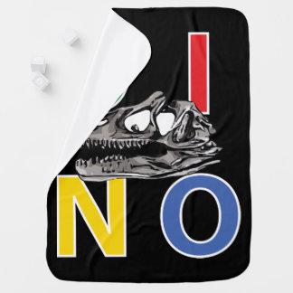 DINO - Black Baby Blanket