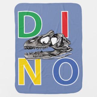DINO - Blue Grey Baby Blanket