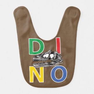 DINO - Brown Baby Bib