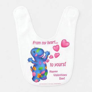 Dino-Buddies™ Valentines Day Bib -Patches™ w/Heart
