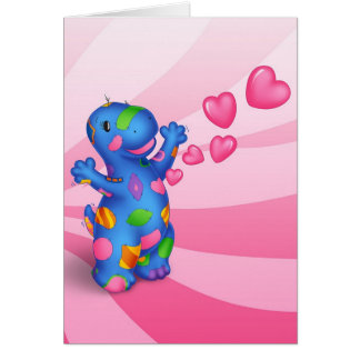 Dino-Buddies™ Valentines Day Card - Patches™ Heart