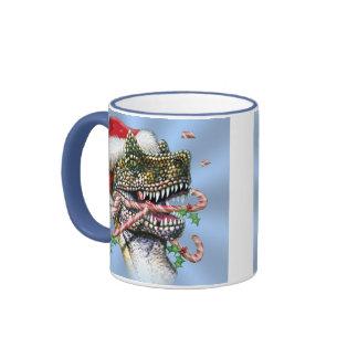 Dino Christmas Ringer Mug