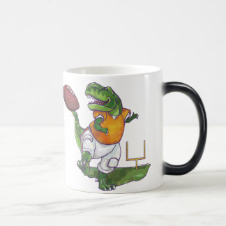 Dino Football Player Magic Mug