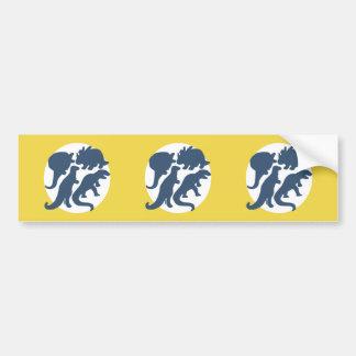 dino four bumper sticker