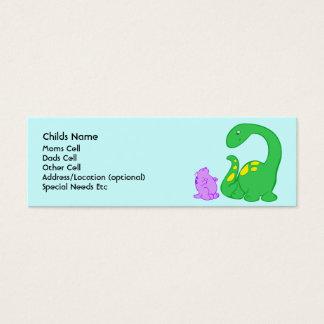 Dino Friends Child I.D. Mini Business Card
