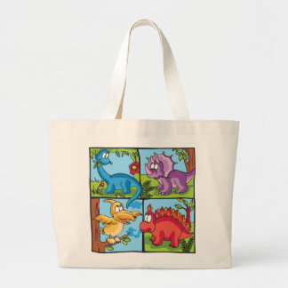 Dino Friends Large Tote Bag