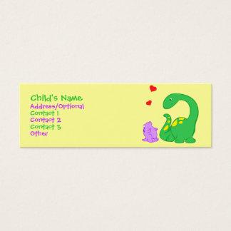 Dino Friends Mini Business Card