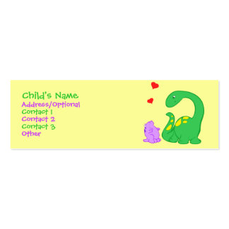 Dino Friends Pack Of Skinny Business Cards