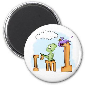 Dino Fun 1st Birthday Fridge Magnets