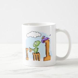 Dino Fun 1st Birthday Mug