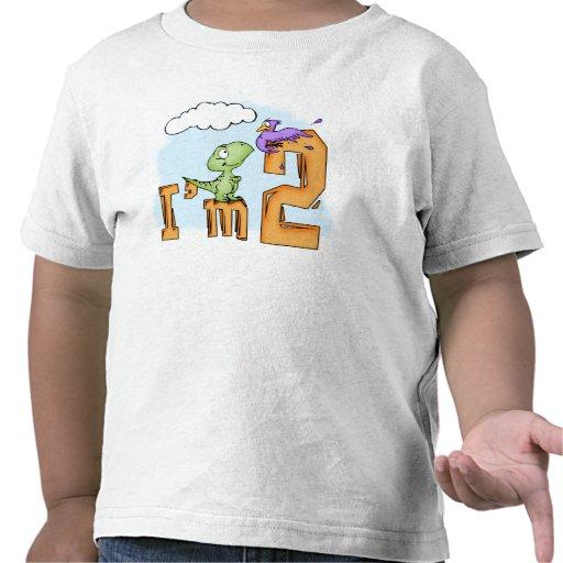 Dino Fun 2nd Birthday Shirts