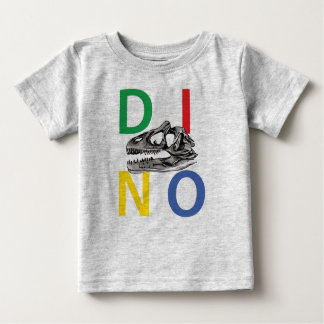 DINO - Heather Grey Baby Fine Jersey T-Shirt