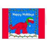 Dino Holiday Greeting Card