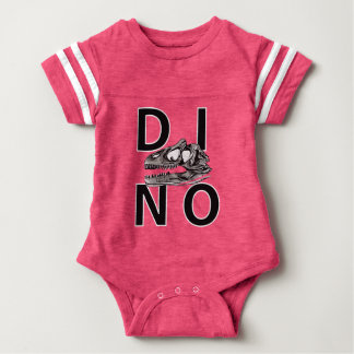 DINO - Hot Pink Baby Football Bodysuit
