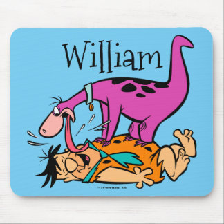 Dino Licking Fred Flintstone Mouse Pad