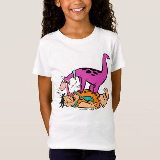 Dino Licking Fred Flintstone T-Shirt