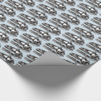 "DINO - Light Blue Glossy Wrapping Paper, 30"" x 6' Wrapping Paper"