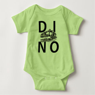 DINO - Lime Green Baby Jersey Bodysuit