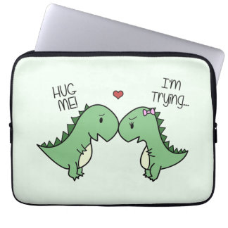 Dino Love Laptop Sleeve! Laptop Sleeve