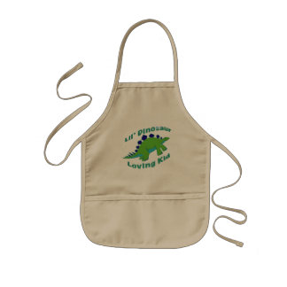 Dino Loving Kid Kids Apron