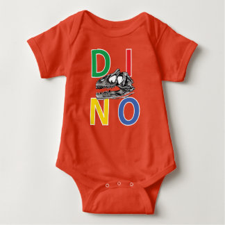 DINO - Orange Baby Jersey Bodysuit