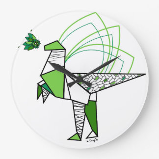 Dino origami wall clocks