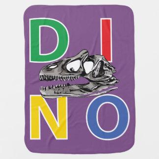 DINO - Purple Baby Blanket