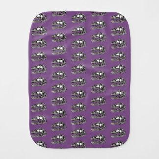 DINO - Purple Burp Cloth