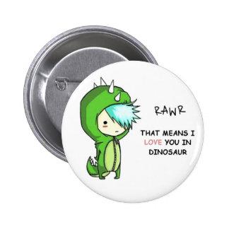 dino RAwr 6 Cm Round Badge