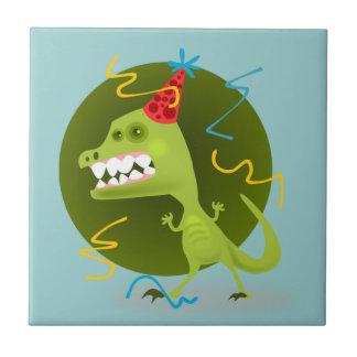 Dino s Rock - Dinosaur Birthday Party Tile