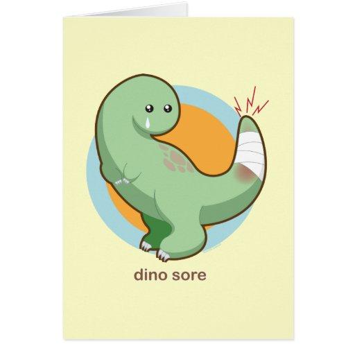 Dino Sore Greeting Card