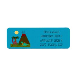 Dino Style - Personalize Return Address Label