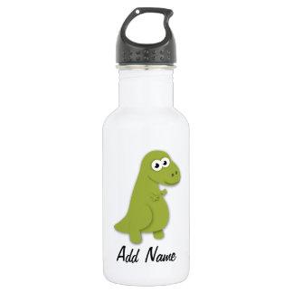Dino Trex Illustration Custom Name Bottle