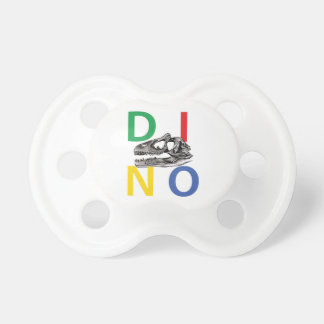 DINO - White 0-6 months BooginHead® Pacifier