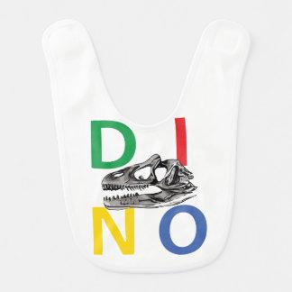DINO - White Baby Bib