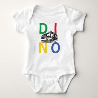 DINO - White Baby Jersey Bodysuit